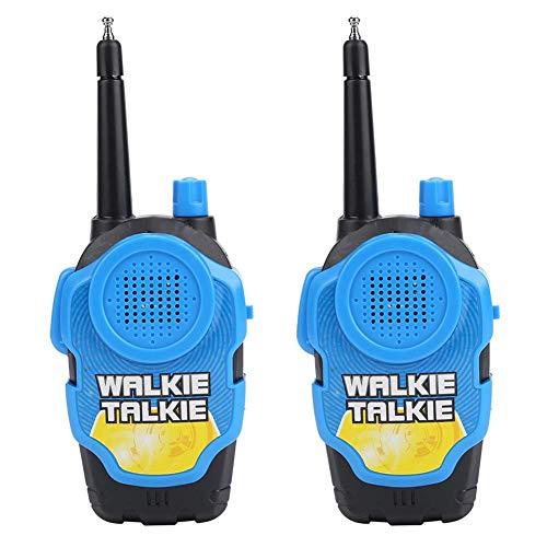 Fdit Walkie Talkie Juego por Voz para Niños Regalo 2pcs Antenas Retráctiles Sonido Claro Ruido Bajo Portátil Lindo Color Opcional(Azul)