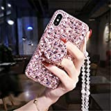 for T-Mobile Revvl 4 Case,TCL Revvl 4 Case,Diamond Kickstand Bling Diamond Glitter Phone Case for T-Mobile Revvl 4 6.22 inch(Pink)
