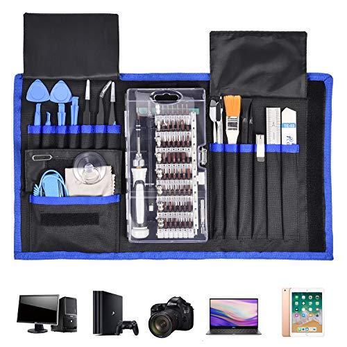 Set di cacciaviti 87 in 1 di precisione magnetica, kit di riparazione magnetico per fotocamera, orologi, smartphone, tablet, cacciaviti, strumenti di precisione con custodia portatile