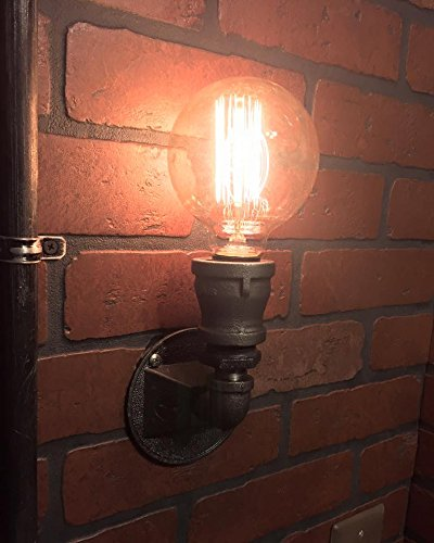 Steampunk Compact Wall Sconce industrial light. Cast iron wall art