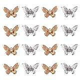 CHGCRAFT 20 Pcs Colgantes de Filigrana de Mariposa con Diama