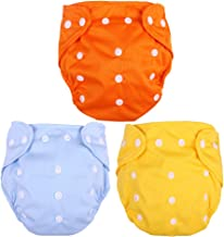 TOYANDONA 3 Pcs Baby Wrap Cloth Diaper Cover Reusable Nappies Washable Cloth Diapers for Children Babies Infants