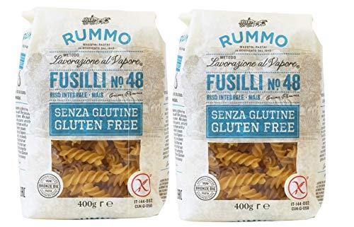 Pasta de Fusilli Sin Gluten Rummo - 2 paquetes x 400 gr