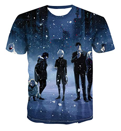 TJJF Camisa publicitaria de Manga Corta de Anime Camiseta de impresión Digital Personalizada