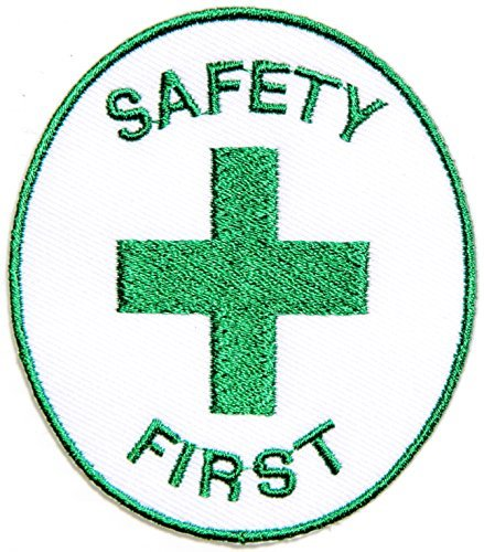 SAFETY FIRST Emergency Doctor Nurse Ambulance Logo Tab Jacket Uniform Patch Sew Iron on Embroidered Sign Badge Costume