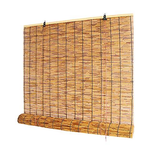 XYNH Tapparella Avvolgibile Tendina-con Carrucola-per Interni/Esterni/terrazza/Gazebo/Portico-Tenda A Rullo in bambù-Tenda da Sole- Persiana Oscurante