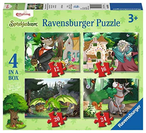 Ravensburger 69392 Efteling 4In1Box Puzzel - 12+16+20+24 Stukjes - Kinderpuzzel