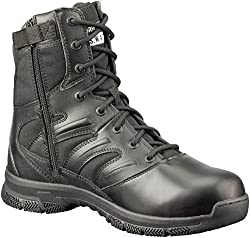 SWAT safety boots with side zip and protective toe - good affordable foot protection