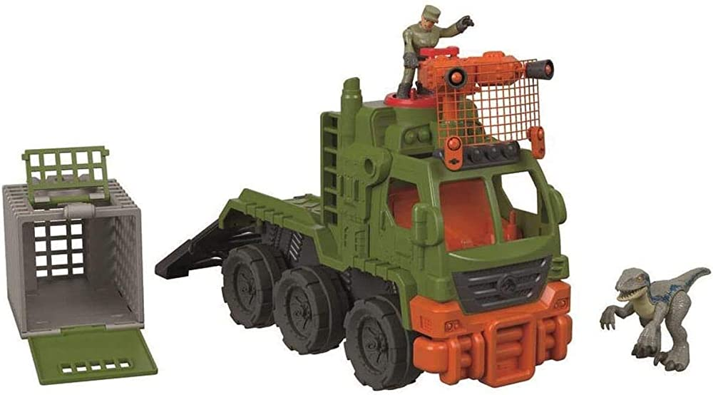 Mattel, imaginext jurassic world dinosauro transporter, FMX87