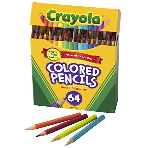 Crayola Mini Colored Pencils in Assorted Colors, Coloring Supplies for Kids, 64ct, 3 x 1.3 x 5.8
