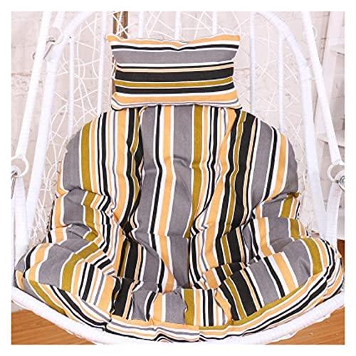 XiYou Mobili da Giardino Cuscini per sedie Cuscino per Sedia a Uovo, Cuscino per Sedia a Dondolo, Cuscino Rimovibile per Sedia Amaca a Uovo con Cuscino Cortile
