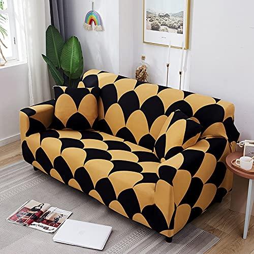 WXQY Funda de sofá con patrón geométrico para Sala de Estar, Funda de sofá elástica, combinación de Esquina en Forma de L, Funda de sofá Antideslizante A14, 1 Plaza
