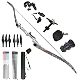 Tongtu Outdoor Tir à l'arc Recurve Bow Chasse Takedown Adulte 30 35 40 45lbs Bow (45lbs)