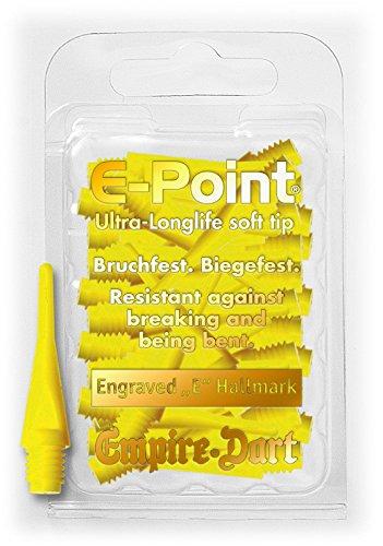 30 EMPIRE E-Point Dartspitzen kurz, 2 BA dünn, 6 mm gelb