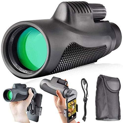 YIQIFEI Telescopio monocular Estelar, monocular HD de Alta Potencia 40x60 para Adultos Que observan Aves con Soporte para teléfono Inteligente y trípode F (monocular)