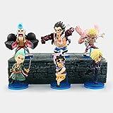 CXNY 6pcs / Set One Piece Anime Collectible Action Figure PVC Toys