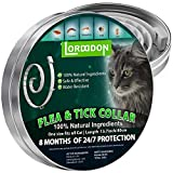 LORDDDON Cat Flea and Tick Prevention Collar - Cats Flea and Tick Control with Adjustable Design Natural Ingredients Waterproof - 8 Months Protection