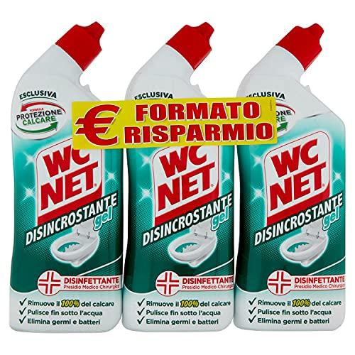 Wc Net Disincrostante Disinfettante Gel per Sanitari e Superfici, Pulitore Liquido per Wc, 700 ml x 3 Confezioni