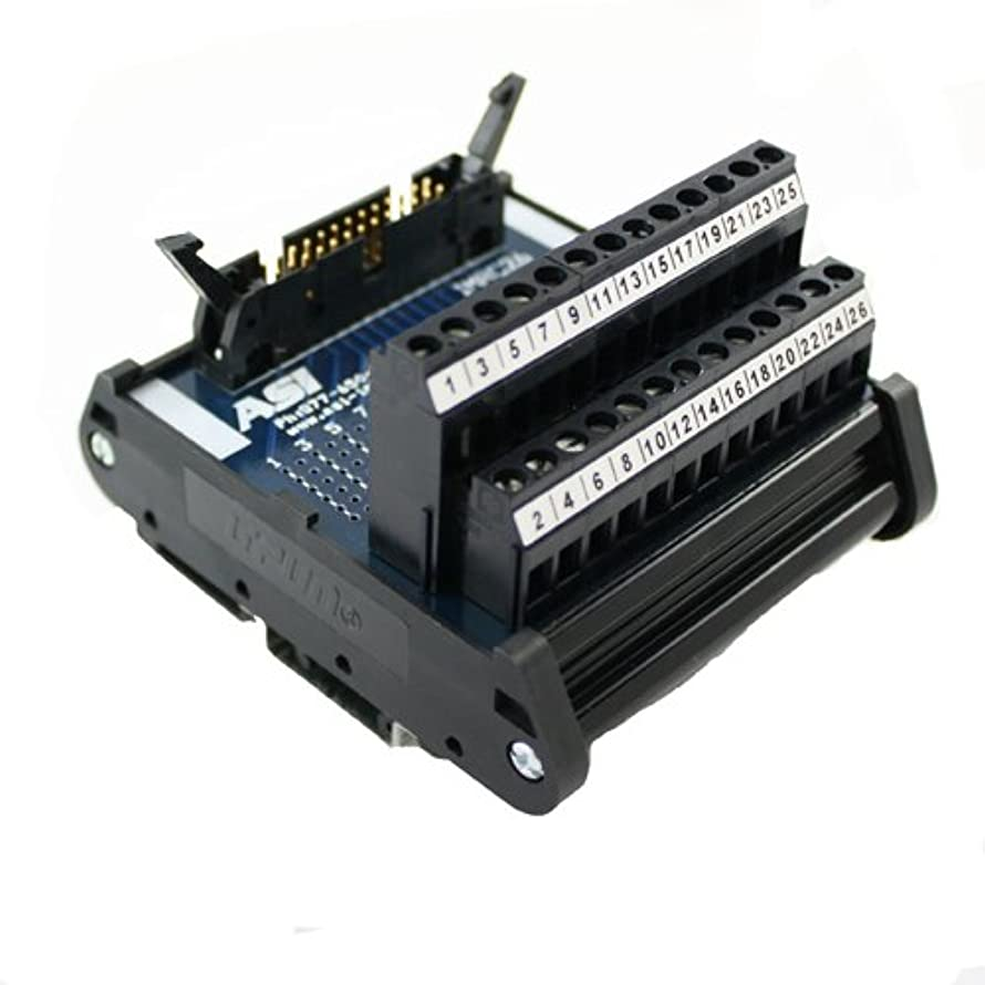 ASI 10004 26 to 12 AWG IMRC26 DIN Rail Mount Interface Module, Flat Ribbon Cable to Wire Transition, 26 Position Ribbon Cable to Terminal Blocks, 2.99