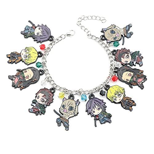 Hot Anime Demon Slayer Lady Bracelet Caractère Pendentif Bijoux En Alliage De Zinc Bracelet Fille Cadeau