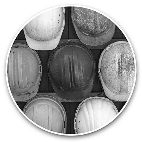 Impresionantes pegatinas de vinilo (juego de 2) 25 cm bw – Casco duro de construcción PPE calcomanías divertidas para portátiles, tabletas, equipaje, reserva de chatarras, frigoríficos, regalo fresco #42008