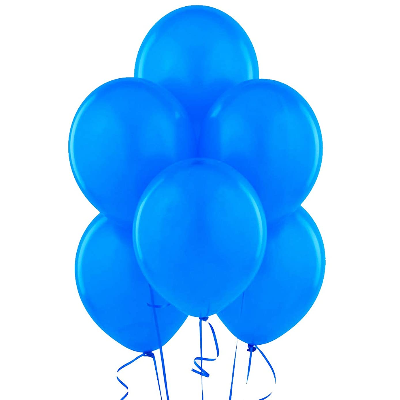Blue 12 Inch Thickened Latex Balloons, Pack of 24, Premium Helium Quality for Wedding Bridal Baby Shower Birthday Party Decorations Supplies Ballon Baloon Thinken