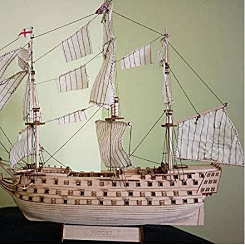 Decoración Modelo de velero Ensamblaje de Kits de construcción Modelo de Barco de Madera Bricolaje Montado Royal Navy Maquetas de Madera Naves The Victory Velero Kit de Juguete de Modelado