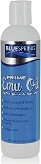 BLUE SPRING Pure Prime Emu Oil For Muscles And Joints - Fast Action Pain Relief For Men And Women - Aromatherapy Healing Deep Tissue Massage - Natural Anti Aging Anti Cellulite Formula - 8-oz