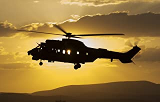 Turkish Air Force AS532 Cougar CSAR helicopter flying over Turkey Poster Print by Giovanni CollaStocktrek Images (34 x 22)