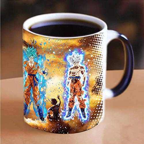 LongBin Super Goku Sensitive Heat Magic Color Que Cambia 11 Oz Taza De Cerámica De Té Taza De Café Amigos Regalo De Cumpleaños-301-400Ml