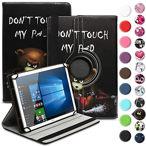 Tablet Hülle kompatibel für Odys ACE 10 Tasche Schutzhülle Hülle Universal Cover Standfunktion 360° Drehbar, Farbe:Motiv 8