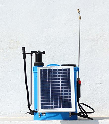 INTRAMI AGRICOLA PULVERIZADOR Mochila 16L ELÉCTRICA MAS Placa Solar Modelo PJS-17