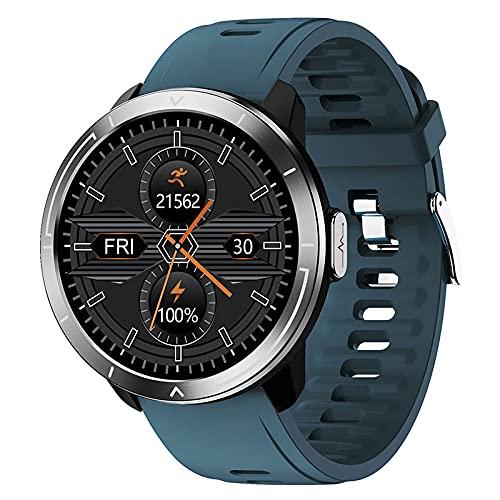 LSQ Smart Watch M18 Plus Men Cuerpo Temperatura Música Control Música Smartwatch Impermeable Tasa del Corazón Fitness Tracker Mujer Reloj De Tacto Completo,C