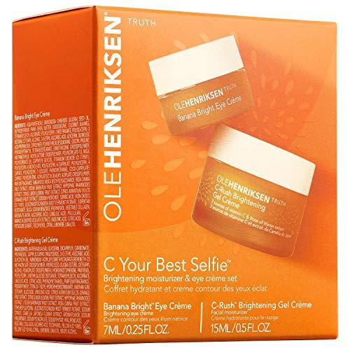 OLEHENRIKSEN C Your Best Selfie Brightening Moisturizer & Eye Crème Set 0.5 oz/ 15 mL C-Rush Brightening Gel Crème AND 7 mL Banana Bright Eye Crème