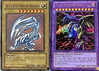 Yu-Gi-Oh!! Five-Headed Dragon!! Blue Eyes White Dragon! 50 Yugioh Card Lot with RARES Guaratneed!!!