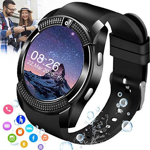 Smartwatch V8 mit SIM-Karte TF Kamera Bluetooth Anruf Sportuhr (Schwarz)