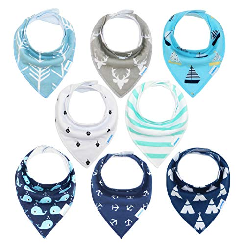 Baby Bibs 8 Pack Soft and Absorbent for Boys amp Girls  Baby Bandana Drool Bibs