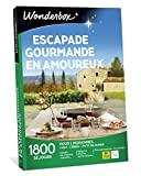 Wonderbox – Coffret cadeau - ESCAPADE GOURMANDE EN AMOUREUX – plus de 1.000 séjours gourmands en manoirs, hôtels de charme, maisons d'hôtes authentiques pour 2 personnes.