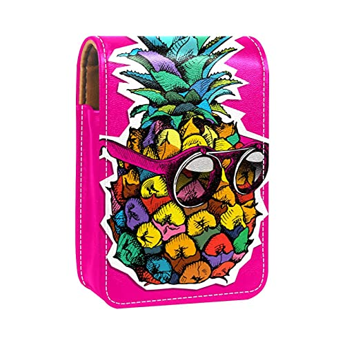 Estuche de lápiz Labial para Bolsa de Maquillaje para Exterior Mini Bolsa de Viaje Estuche cosmético Gafas de Sol de Frutas de Fruta Rosa para Mujeres Regalos