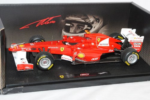 Mattel Ferrari 150 Italia 2011 Türkei GP Fernando Alonso 1/18 Elite Modell Auto