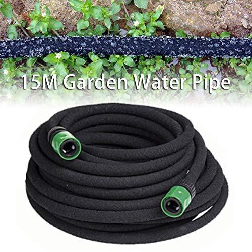 Kathariiy 15 m erweiterbarer Gartenschlauch PE-Gummischlauch - Auslaufsichere leichte Gartenwasserleitung | Sparen der Düngung Bewässerung Flexibles Schlauchrohr für den Garten