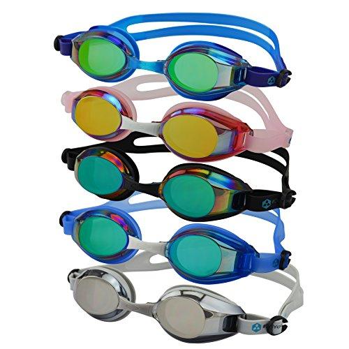#DoYourSwimming Occhialini da Nuoto »Piranha«, 100% Protezione Raggi UV + Anti-Appannamento. Cinturino Resistente in Silicone + Custodia Rigida. Prodotto di Alta QUALITA'! AF-2100m, Colore: Fucsia