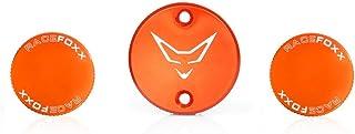RACEFOXX Deckelset Ausgleichsbehälter Bremsflüssigkeit Deckel Behälter Kupplungsflüssigkeit für KTM 1290, orange