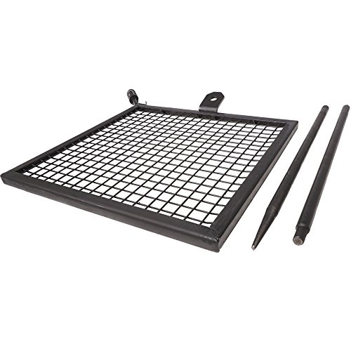 Titan Adjustable Swivel Grill Campfire Cooking Grate 40' Fire Pit Ring BBQ