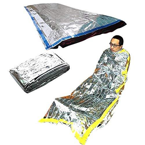 TQ Nuevo Ligero Al Aire Libre Impermeable Saco de Dormir de Emergencia Rescate de Rescate Térmico Primeros Auxilios Manta de Acampada de Aluminio Manta de Rescate