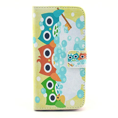"""Iphone 6 Case, Iphone 6 Wallet, Best- Eshop Premium Pu Leather Wallet Flip Protective Skin Case Cover with Magnetic Closure for Apple Iphone 6 6g 4.7"""" (2014) (Built-in Credit Card/id Card Slot) (Owls)"""