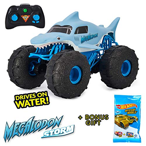 Monster Jam Megalodon Storm All Terrain Remote Control Car 1:15 Scale Large Size and Bonus Gift