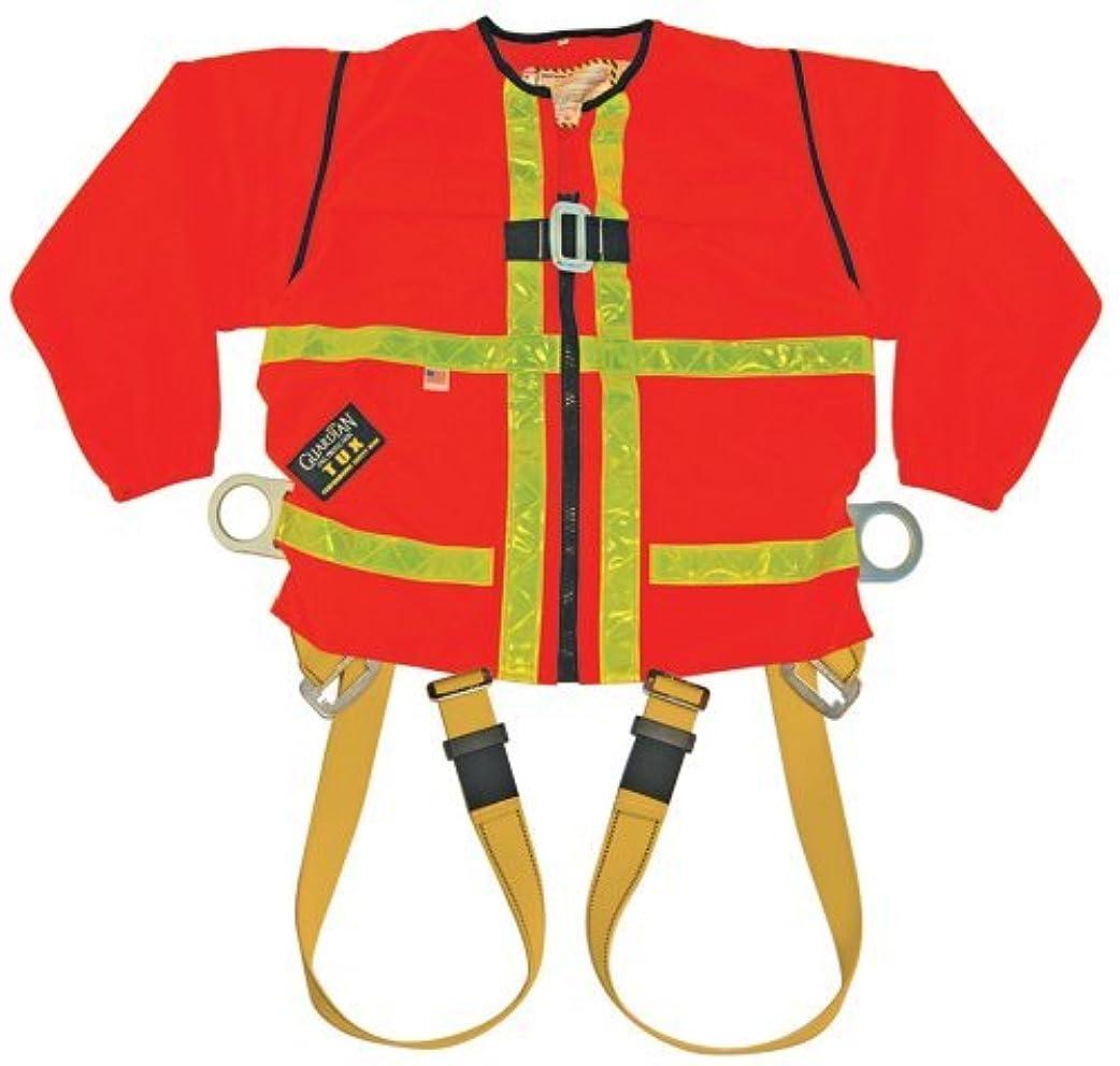 見物人苦しむくるみGuardian Fall Protection 13310 Hi-Viz Orange Tux Harness with Zip On/Off Long Sleeves,Medium [並行輸入品]