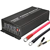 BYGD 2000W Power Inverter 12V to 110V DC to AC Converter Modified Sine Wave Inverter with 4 AC Outlets 2.1A USB Ports for Car RV Truck Boat