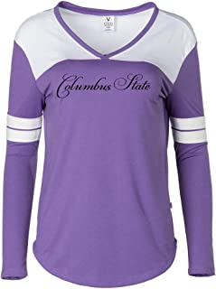 NCAA Columbus State CC CD9DH07 Women's V-Neck Long Sleeve Hockey Tee